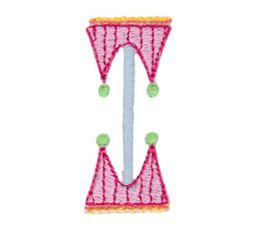 Dangles Capitals Alphabet I