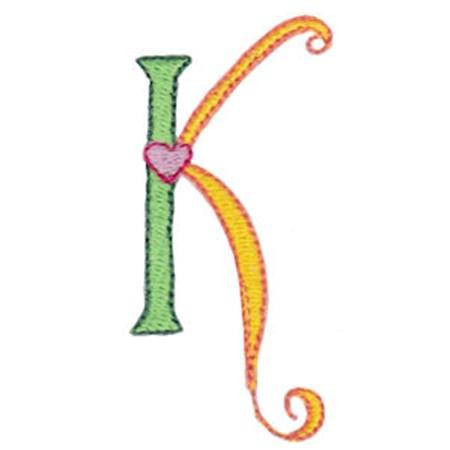 Dangles Capitals Alphabet K