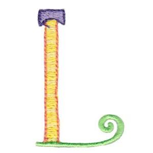 Dangles Capitals Alphabet L