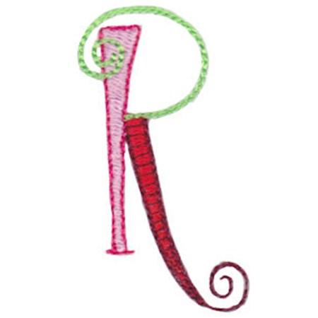 Dangles Capitals Alphabet R