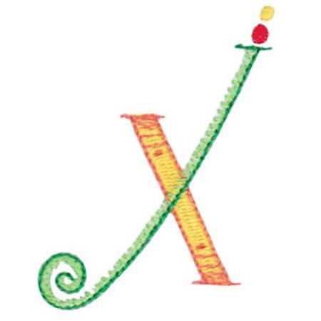 Dangles Capitals Alphabet X