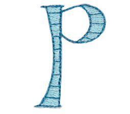 Dangles Lower Case Alphabet p