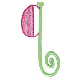 Dangles Lower Case Alphabet q