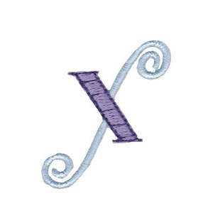 Dangles Lower Case Alphabet x