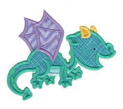 Dashing Dragons Applique 1