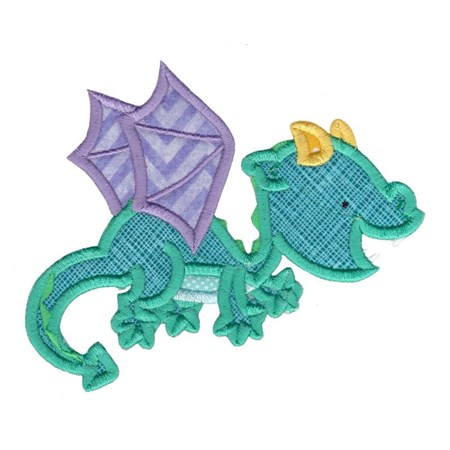 Dashing Dragons Applique 1