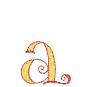 Dominique Alphabet Lower Case a