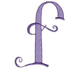Dominique Alphabet Lower Case f