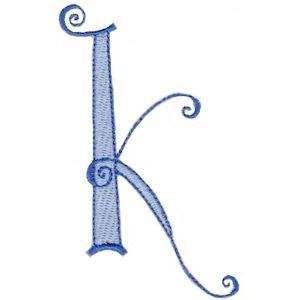 Dominique Alphabet Lower Case k