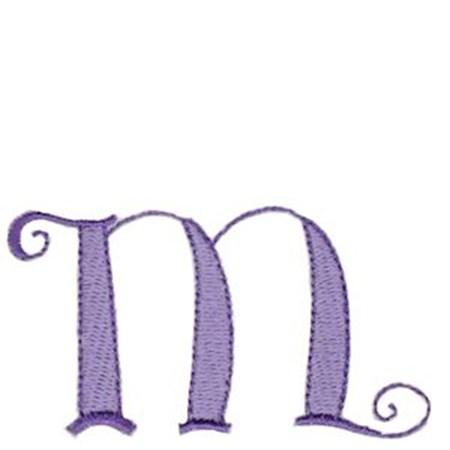 Dominique Alphabet Lower Case m