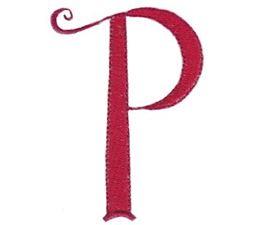 Dominique Alphabet Lower Case p