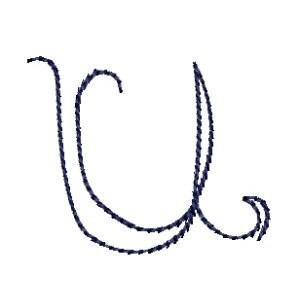 Doodle Alphabet u