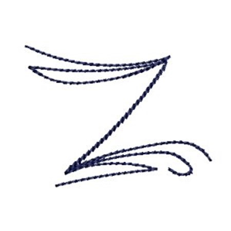 Doodle Alphabet z - Bunnycup Embroidery