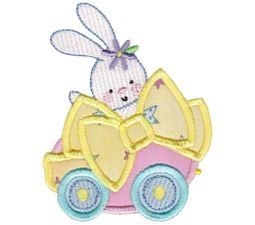 Easter Train Applique 1