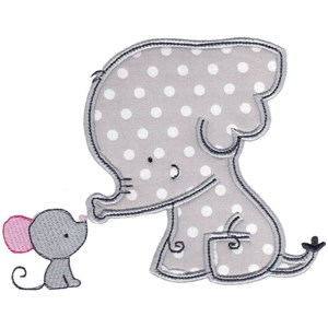 Elephants Applique 1