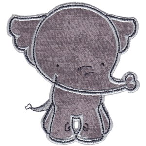 Elephants Applique 15