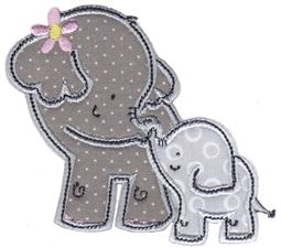 Elephants Applique 16