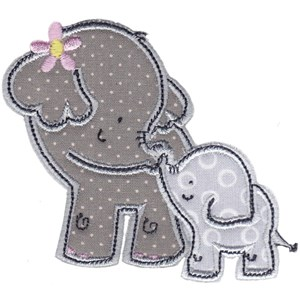 Elephants Applique 16