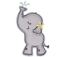 Elephants Applique 3