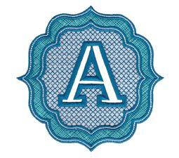 Embossed Monogram Font A