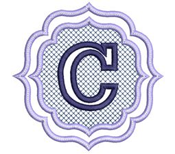 Embossed Monogram Font C