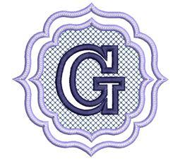 Embossed Monogram Font G