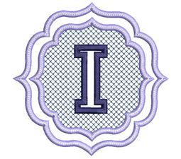 Embossed Monogram Font I
