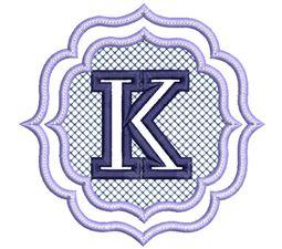 Embossed Monogram Font K