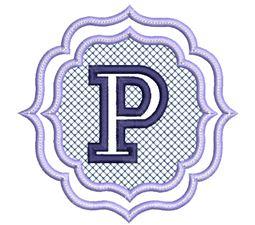 Embossed Monogram Font P