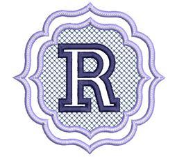 Embossed Monogram Font R