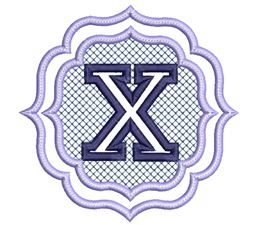 Embossed Monogram Font X