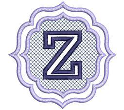 Embossed Monogram Font Z