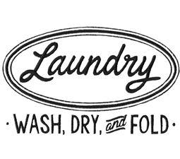 Retro Laundry Wash Dry And Fold
