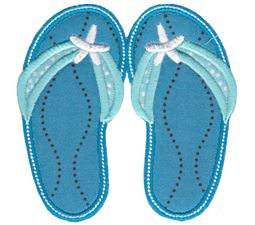 73b228ae80d Flip Flops Applique Applique Embroidery Designs - Bunnycup Embroidery