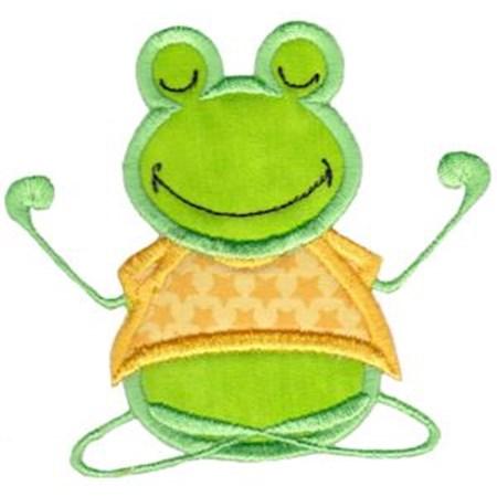 Happy Frog Applique 10