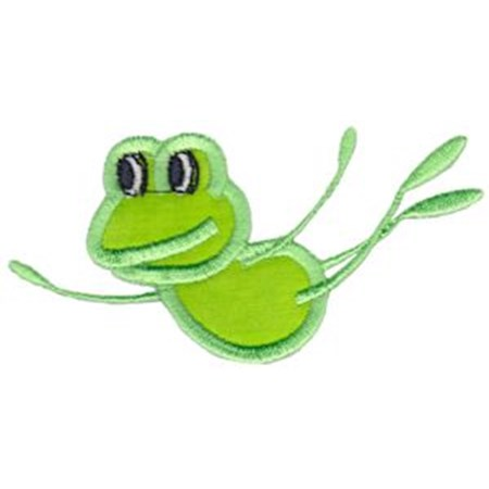 Happy Frog Applique 2