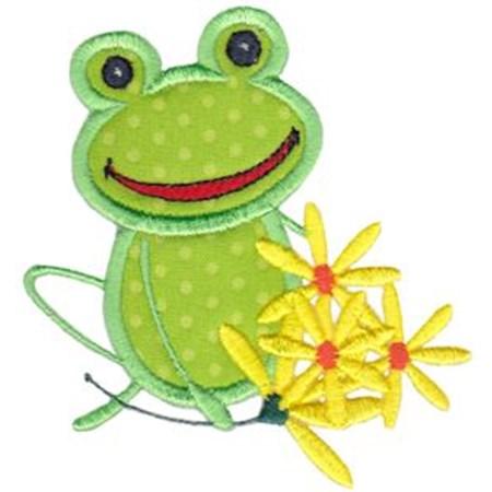 Happy Frog Applique 6