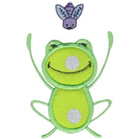 Happy Frog Applique 7