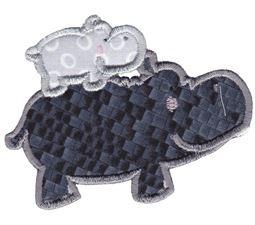 Hippos Applique 12
