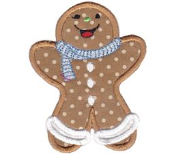 Jolly Gingerbreads Applique 10