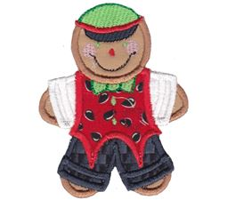 Jolly Gingerbreads Applique 11