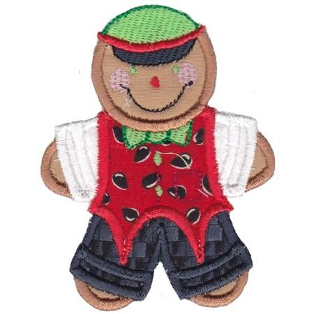 Jolly Gingerbreads Applique 11