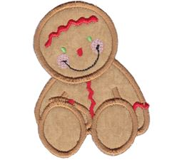 Jolly Gingerbreads Applique 12
