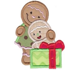 Jolly Gingerbreads Applique 3