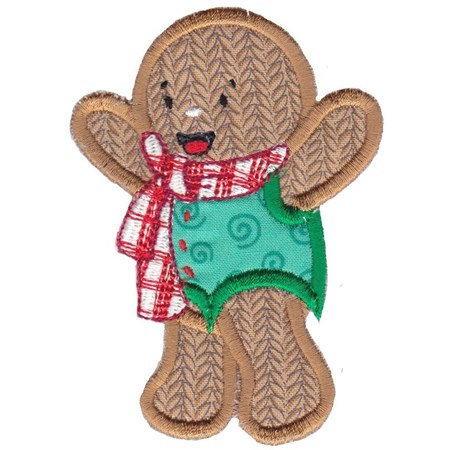 Jolly Gingerbreads Applique 4