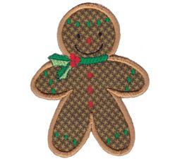 Jolly Gingerbreads Applique 8