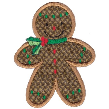 Jolly Gingerbreads Applique 8