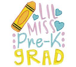 Little Miss Pre K Grad