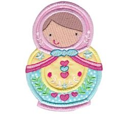 Matryoshka Applique 12