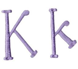 Quirky Girl Alphabet K